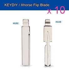 Keyecu 10 Stuks Flip Blade 18 #67 # Voor Kd Afstandsbediening Sleutel NO.67 No.18 HU92 Hu58 HU92RTE Ongesneden Blade voor Bmw Voor Mg Fob Vervanging