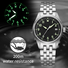 Steel Dive Watches Men NH35 Mechanical Diver Watch Sapphire