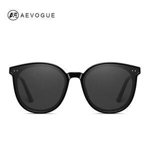 Image 2 - AEVOGUE New Polarized Sunglasses Women Popupar Transparent Round Retro Fashion Sun Glasses Vintage Oculos Unisex UV400 AE0845