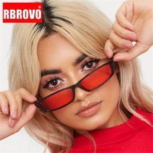 RBROVO 2019 Rectangle Sunglasses Women Vintage Small Frame C