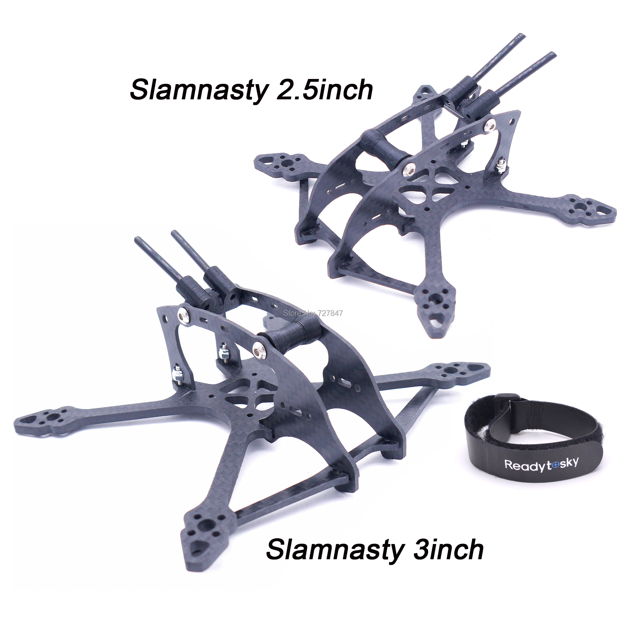 Slamnasty 2.5inch 115mm / 3inch 135mm Wheelbase X Type Pure Carbon Fiber Quadcopter Frame For FPV Racing Drone