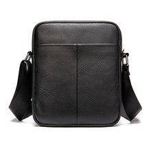 Men's New Tote Bag Genuine Leather Shoulder bags Men Messenger Bag Mini Crossbody Shoulder Bag Leather Casual Bags For Male