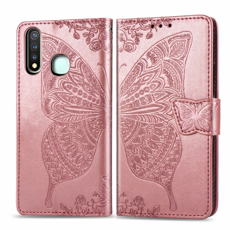 For Vivo Y19 2019 U3 VIVO U3X Y5S U10 U20 Gorgeous Butterfly Wallet Flip Case For Vivo Y11 Y12 Y15 Y17 Y3 IQOO Neo V17 V15 Pro
