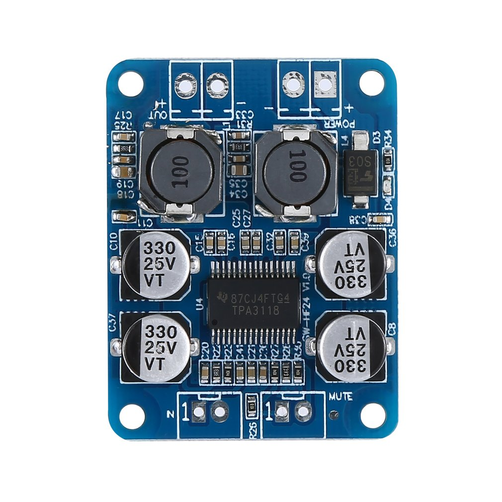 Ultra-Small Digital Power Amplifier Board Tpa3118 Pbtl Mono Digital Power Amplifier Board 1X60W Hf24