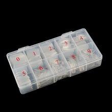 500 sztuk wyczyść naturalne francuskie tipsy lakier żelowy UV Manicure rozszerzenie Nails Tip Box Pack 500 sztuk Comestic praktyka wyświetlacz