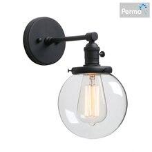 Настенный светильник permo в стиле индастриал бра со стеклянным