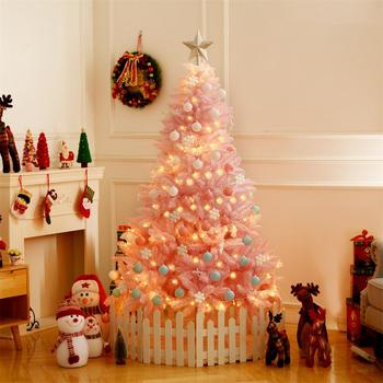 Cherry Blossom Pink Christmas Tree Deluxe Encrypted Illuminate Diy Christmas Tree Gift Christmas Decorations For Home