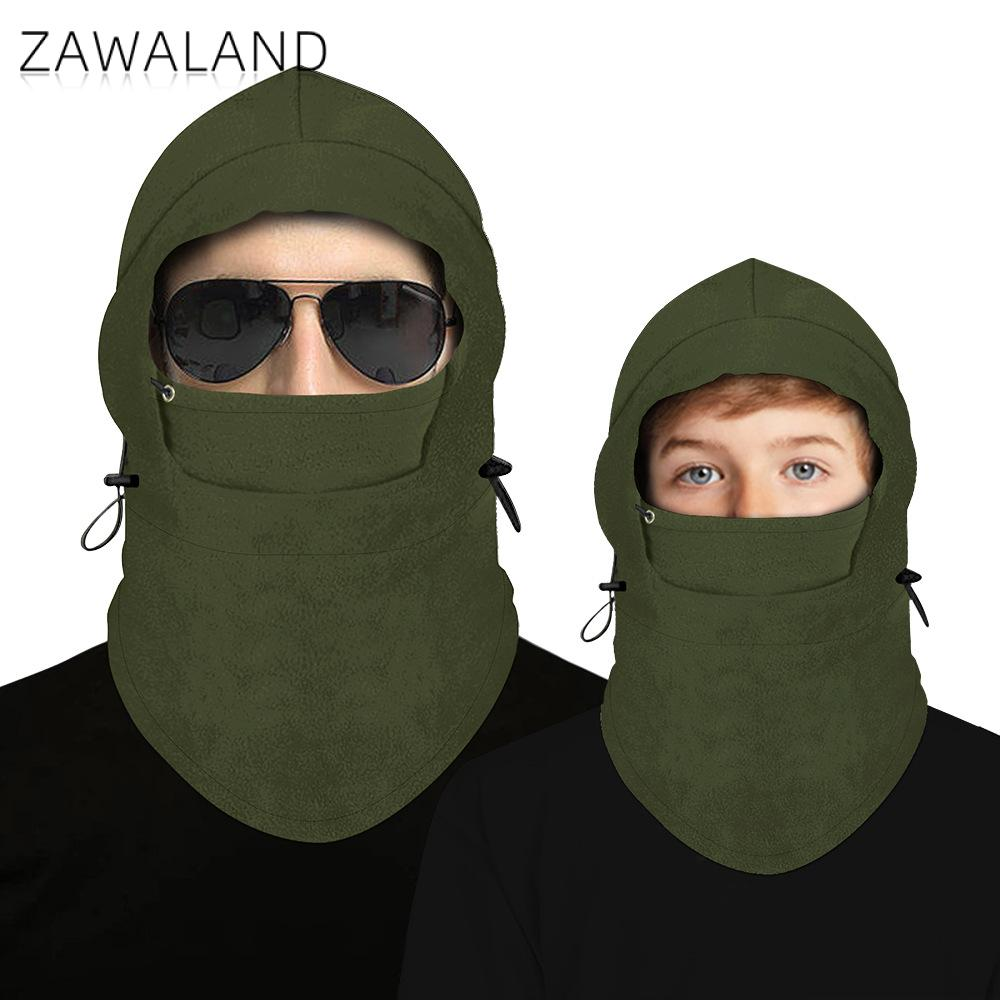 Zawaland Solid Balaclava Headgear Child Kid Scarf Headband Windproof Outdoor Full Face Mask Polar Fleece Thermal Mask