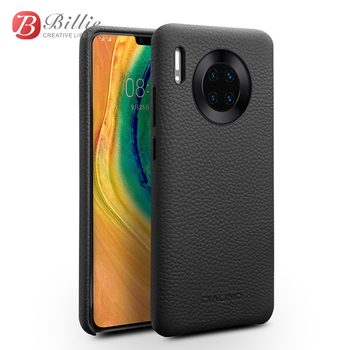 QIALINO Luxury Genuine Leather Ultra Light Back Cover For Huawei Mate 30 Pro Fashion Slim Case for Huawei Mate 30 Three Colors фото