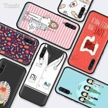 Nurse Medical Medicine Black Silicone Cases for Xiaomi Mi A3 Lite CC9E 9T 5X 6X 8 A2 A1 Redmi K20 Note 7 Phone Cover