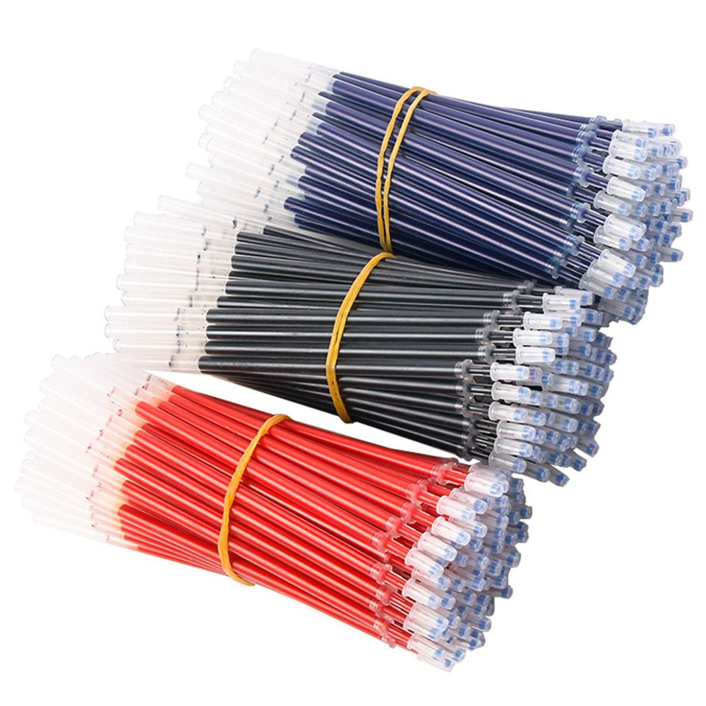 20pcs/set 0.5mm Gel Pen Refills Red Blue Black Ink Pen Replacement Signature Rods School Office Supplies Stationery papelaria(China)