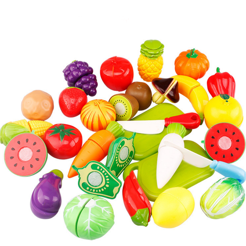 6pcs/set Cutting Fruit Vegetable Fruit Pretend Play Kitchen Game Toys Children Kid Educational Toy Plastic Learning Toys Gifts