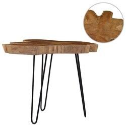 طاولة قهوة vidaXL (60-70)x45 سم خشب الساج