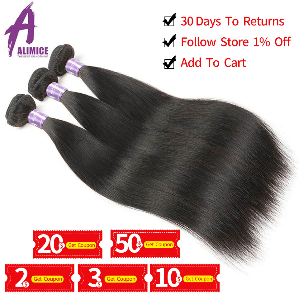 Alimice-Indian-Straight-Hair-Bundles-Human-Hair-Weave-Bundles-1-3-4-Pieces-Indian-Hair-NonRemy (4)