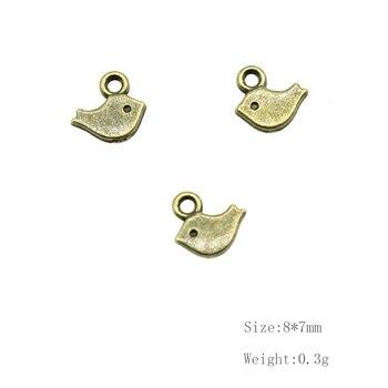 30 piezas Retro Taliyah pequeño pájaro colgante joyería componentes accesorios Diy artesanía suministros