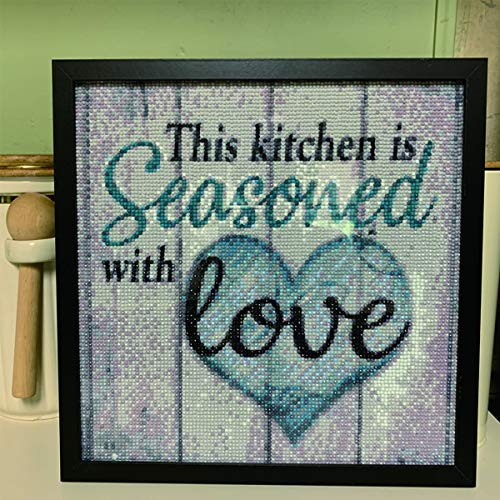 DIY Diamond Painting Kits Housewarming Gift Walls and Beams Arts Craft for Home Family Quotes Wall Decoration 12x12in No Frame