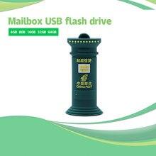 USB флеш-накопитель 128 ГБ, мультяшный почтовый ящик, usb флеш-накопитель 64 ГБ, карта памяти, Флеш накопитель 4 ГБ, 8 ГБ, 16 ГБ, 32 ГБ, персонализирован...
