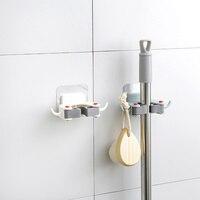 1 estante de pared para fregona, soporte para baño, gancho para escoba, estante para almacenaje de cocina, estantes para herramientas, gancho autoadhesivo sin costuras