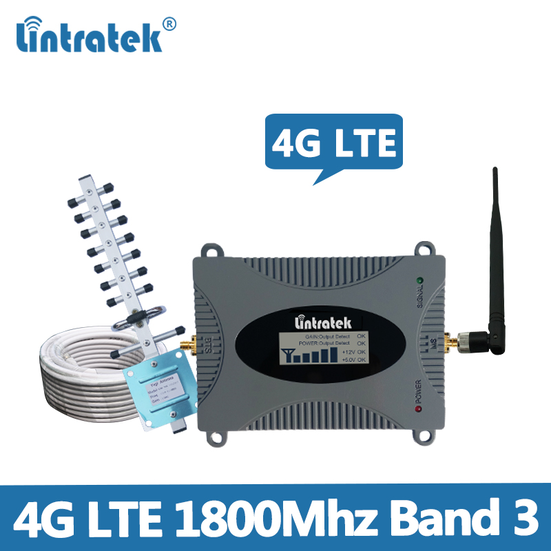 Lintratek 4G Signal Repeater Band 3 Booster 4G 1800 GSM Ampli Mobile Phone Signal Booster 2G DCS 1800MHz Cellphone Internet @5.1