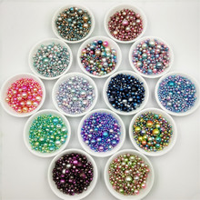 цена на 3/4/5/6/8/10/12mm ABS Imitation Pearl Beads Colorful Round Have Hole Acrylic Loose Beads for Jewelry Making DIY Accessories