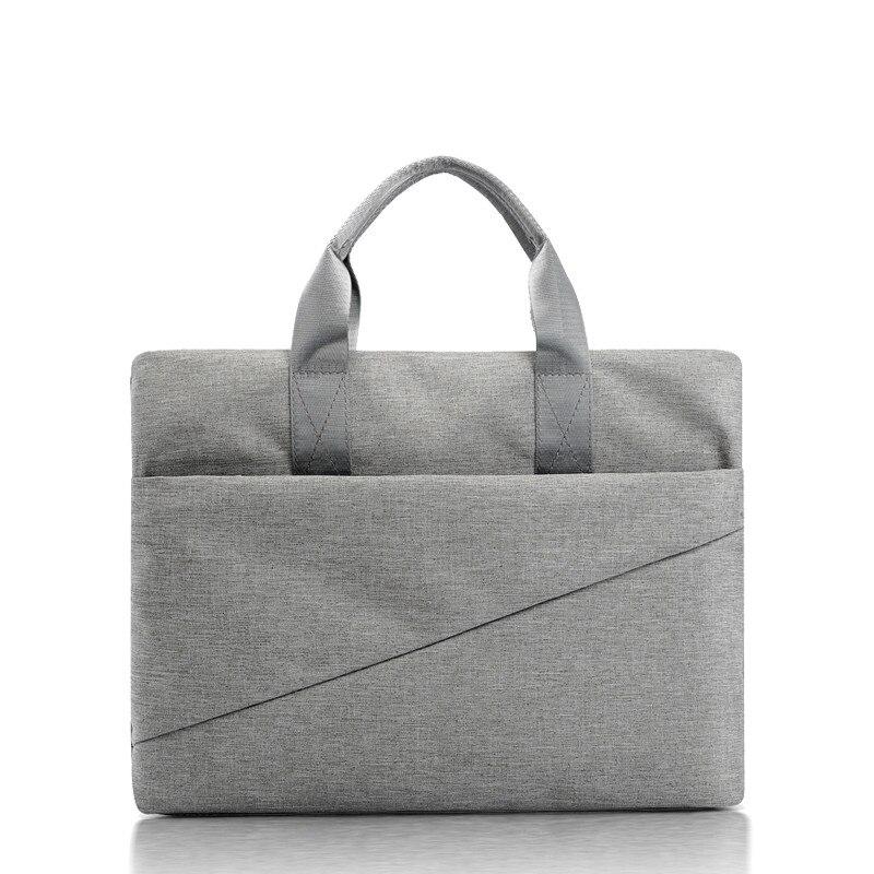 Briefcase Carpeta Archivadora Canvas Information Bag A4 Conference Bag Zipper Multi-layer Large Capacity Male Female Custom