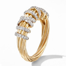 Woman Ring Fashion Simple Micro Set Zircon Alloy Ring Geometric Line Ring Especially For Women To Give Girlfriend Birthday Gift