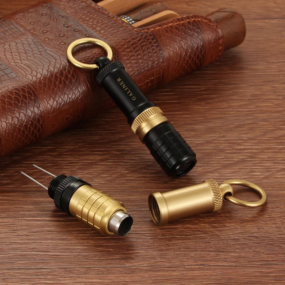 GALINER Punch Cigar Cutter Draw Hole Gadgets Cigar Accessories Portable Mini Pocket Tool Cigar Needles Cutting Drill Opener