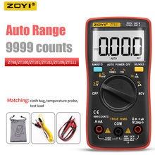 Zoyi zt109 zt111 multímetro digital gama automática profissional testadores multimetro 9999 contagens ncv amperímetro voltímetro capacitor ferramentas