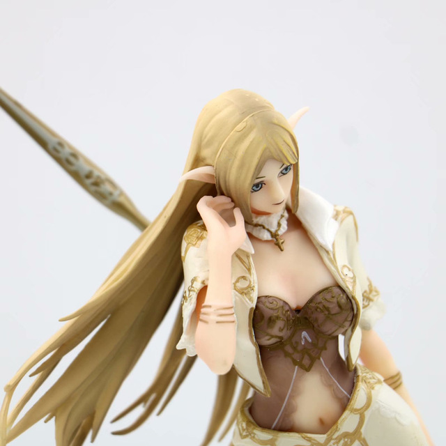 NEW 24cm Anime Lineage heaven 2 Elf Female Mage PVC Sexy Girl Action figure Toys Collection Model Doll Christmas Gift