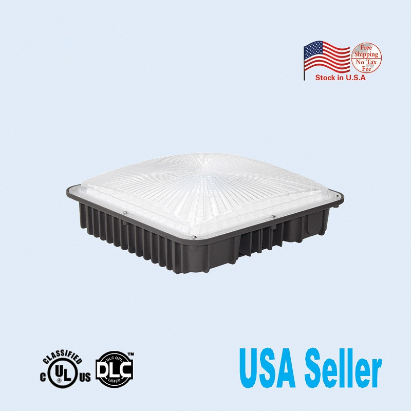 UL/DLC listed LED Canopy Light Commerical Grade Weatherproof Outdoor High Bay Balcony Carport Driveway Ceiling 1pc/lot