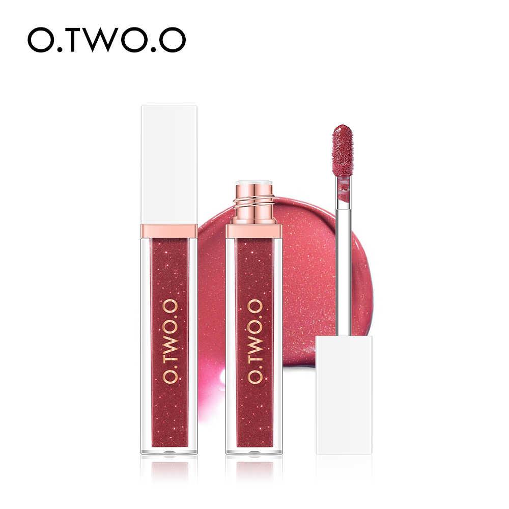 O. TWO. O 7 couleurs paillettes métallique rouge à lèvres longue durée maquillage liquide rouge à lèvres hydratant rouge à lèvres teinte 2019 nouveau rouge à lèvres brut