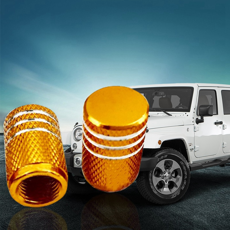 4PCS  Universal Aluminum Car Truck Motorcycle Tyre Tire Valve  Caps  Dust Cover
