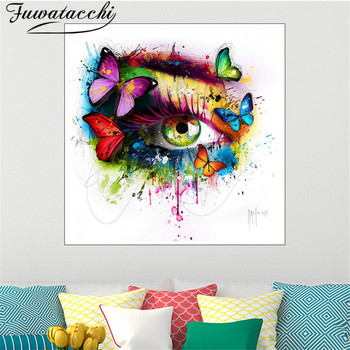 Fuwatacchi Colorful Eye Wall Art Oil Printing Abstract Picture Spray Painting for Home Decor Living Room No Fram Print and Post