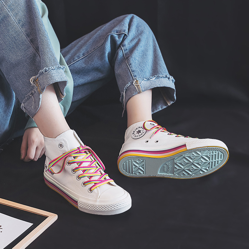Girls Rainbow Sneakers 6