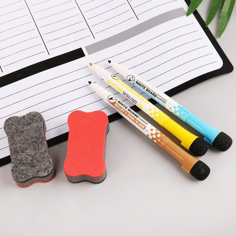 Weekly Planner Soft Magnetic Whiteboard Fridge Magnets Message Remind Memo Pad