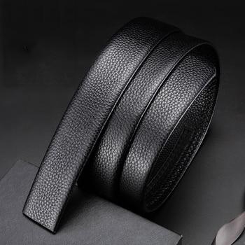 Belt belt body 100% first layer cowhide men's belt leather headless automatic buckle belt men's belt wholesale body belt купить