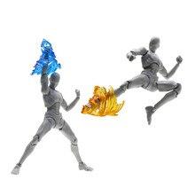  Impact Effect Action Figure Wind Kick Flame Colorful Screw for Kamen Rider Figma SHF Model