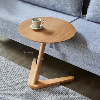 Stół narożny z drewna nordyckiego kreatywny stolik na co dzień stolik dzienny mały stolik rozkładany stolik kawowy meble kuchenne tanie i dobre opinie CN (pochodzenie) Z litego drewna China Nowoczesne 45*60cm Europa i ameryka ALIEN Montaż