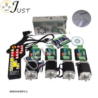 Promotion, CNC controller kit 4 axis, 4 TB6600 stepper motor driver Nema23 motor + power electronic handwheel control sys