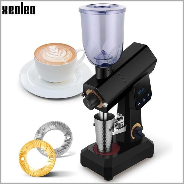XEOLEO 400 جرام اسبريسو مطحنة القهوة مطحنة بن كهربائية كمية ثابتة آلة طحن القهوة طاحونة المنزلية 110/220 فولت