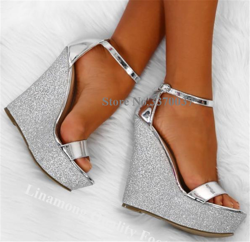 Linamong Bling Bling Silver Sequined