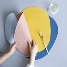 Коврик для столовых приборов из искусственной кожи Овальный
