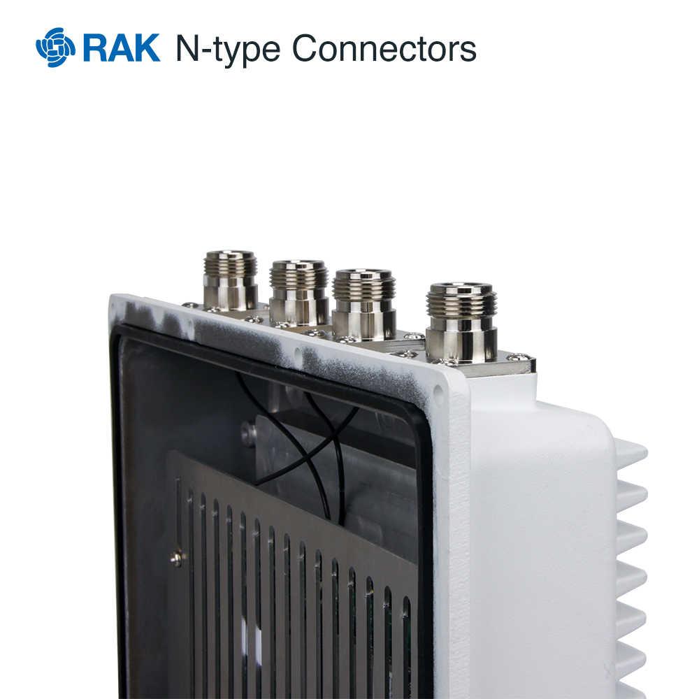Soporte de recinto de puerta de enlace exterior RAK7249 DIY Gateway RAK831 tablero concentrador LoRa accesorios IP67 aluminio fundido a presión Q007