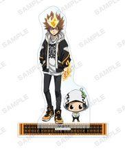 Anime katekyo hitman renascer! Acrílico carrinho de exibição modelo decoração do desktop brinquedo gokudera hayato sawada tsunayoshi yamamoto takeshi