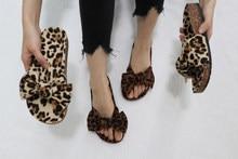 Moda feminina fatia leopard ribbon sandálias com cortiça senhora dedo do pé aberto cortiça slides chinelos