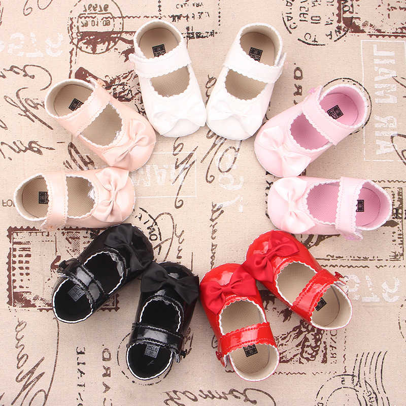 0-18 חודשים תינוק PU רך בלעדי עור נעלי יילוד ילד ילדה נסיכת נעלי תינוקות פעוט מוקסין Bowknot נעל