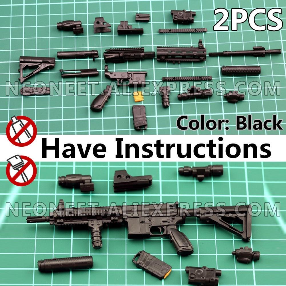 1:6 Assembly 4D Gun Model 1/6 Assault Rifle Machine Gun HK416 Soldier Weapon Plastic Grenade Launcher DAM Toys Hot Toys PUBG
