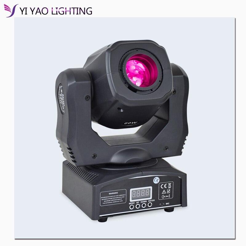 60W Led Spot luz con cabezal móvil DJ haz de luces Led Lira lugar con gobo y rueda de color para el Disco Prty Equipmentnt 40000LM potente faro USB recargable 7 LED faro delantero lámpara impermeable cabeza linterna