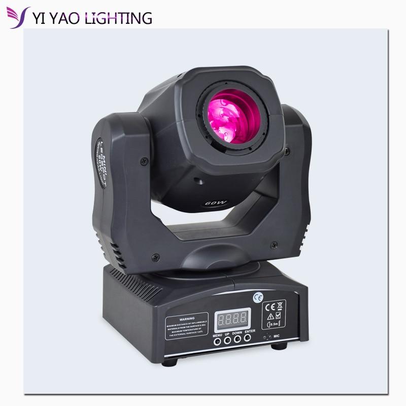 Foco de luz Led de 60W con cabezal móvil DJ, haz de luces Led Lyre Spot con gobo y rueda de color para Disco Prty Equipmentnt Tuya ZigBee, dispositivo inteligente para hogar con entrada, dispositivo compatible con aplicación add, Control de luz inteligente ZigBee 3,0, mando a distancia inalámbrico