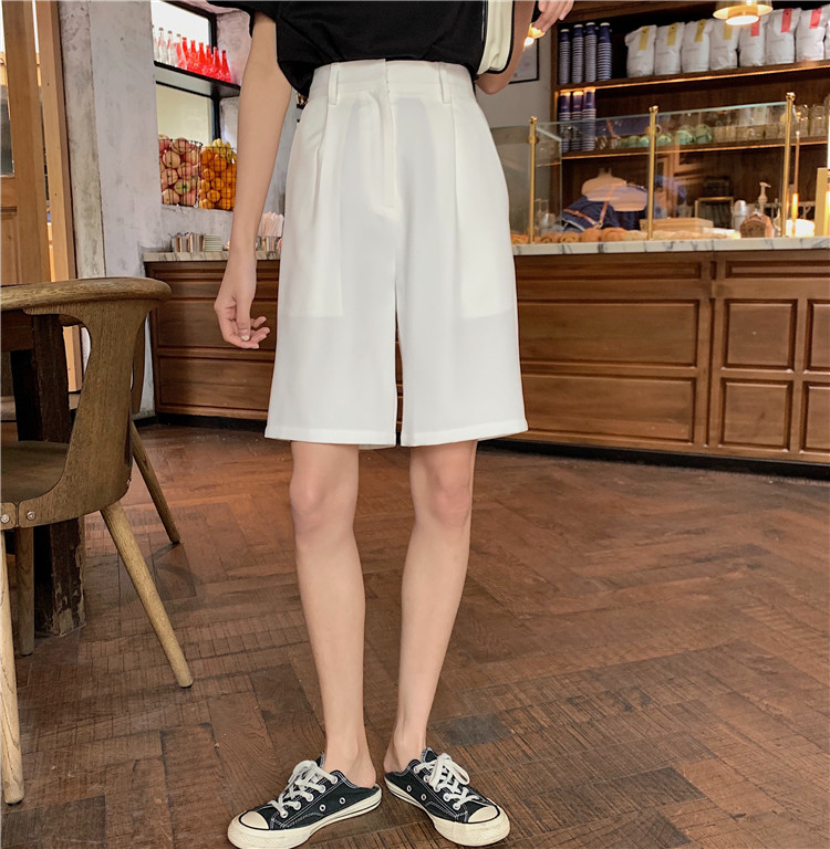 H1147881646994db7adb58f2e7e13e1234 - Summer High Waist Wide Leg Loose Solid Shorts
